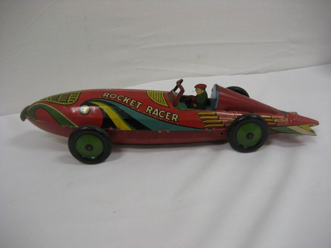 "9: Marx Rocket Racer, 16 1/2"".  Minor loss and wear.  1"