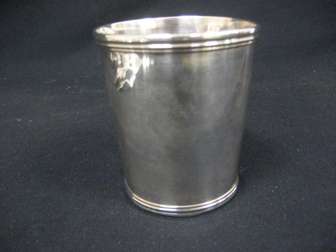 "21: D. Kinsey (Cincinnati) 3 1/2"" beaker with minor den"