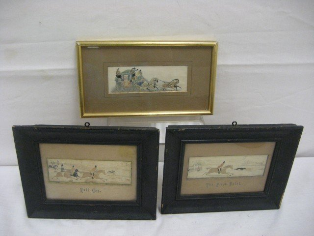 1: Three (3) framed Stevengraphs.  Two with matching fr