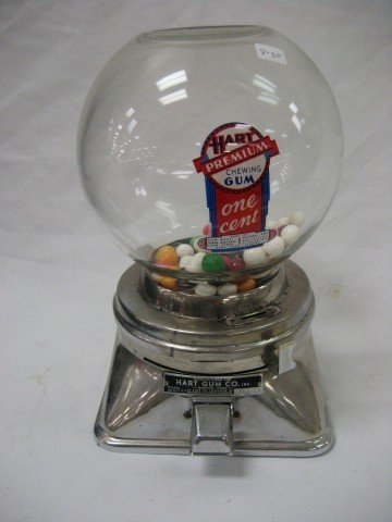 "8: Hart Gum Co. #16129 gum dispenser, 11"" tall"