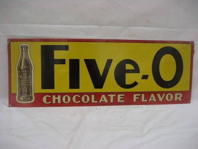 17: Five-O Chocolate Flavor double side sign with minor