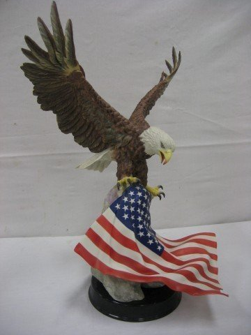 "86: 1991 Boehm U.S.A. Patriot Eagle, 21 1/2"" tall, 17"""