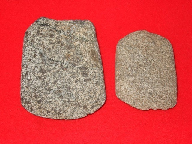15: Two Hardstone celts, Lincoln Co., KY.  Largest is 3