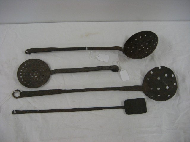"""6A: Kitchen tools:  16 3/8"""" iron handle spatula with 2"""""""