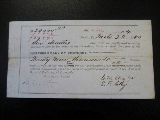 7: March 22, 1880 Northern Bank of Kentucky Paris, KY 6