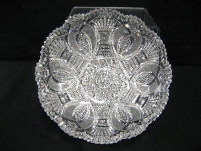 "12: Unger Bros. 9 1/8"" cut glass deep bowl"