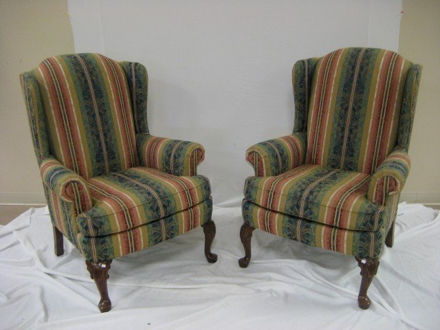 348: Clayton Marcus Wingback Chairs (2)