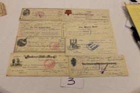 3: (8) Ohio checks: 1913 - The Bucher & Gibbs Plow Co.;