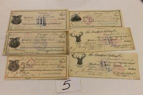 5: (6) Ohio checks - 1906 - The Kruse Hardware Co.; 191