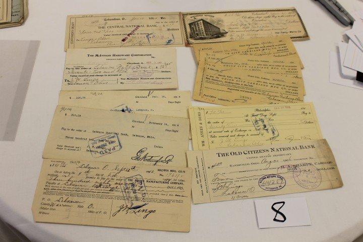 8: (11) Checks - 1906 - The Railey Drug Co. - Zanesvill