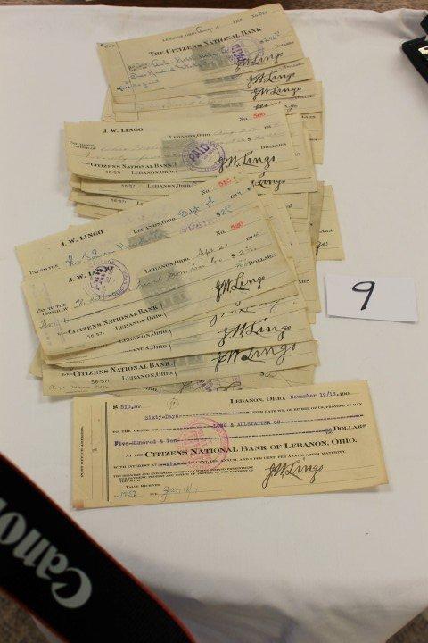 9: 1914 (24) checks, J.W. Lingo, along with a Lon & All