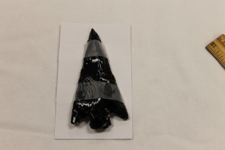 "23: Copntemporary 4 3/8"" Western Obsidian point"