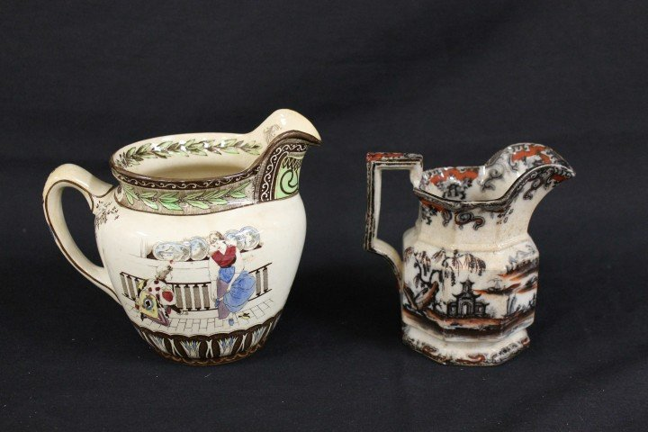 Buffalo Pottery 1906 Cinderella pitcher with crazing an