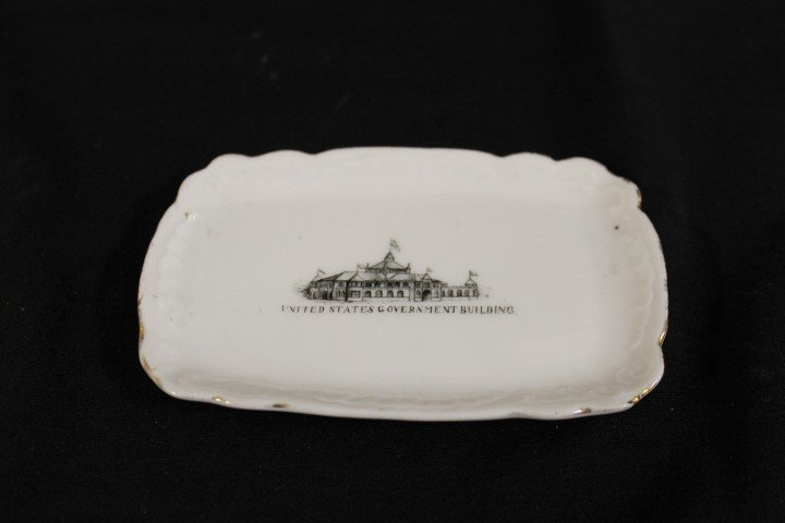 """5"""" tip tray with United States Government Building, Cot"""