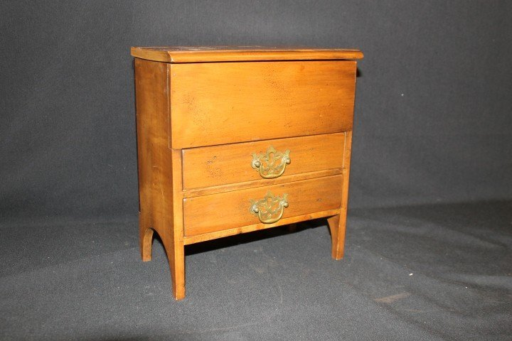 Contemporary miniature sugar chest with two drawers.  S