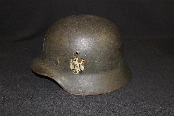 German helmet, possible Navy, with original decal.  Ill