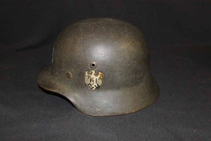 German helmet, possible Navy, with original decal.  Ill