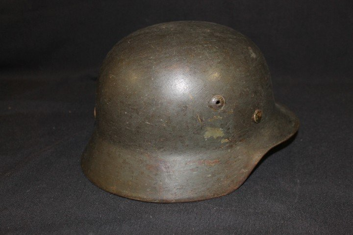 German helmet, possible Navy, with original decal.  Ill - 2
