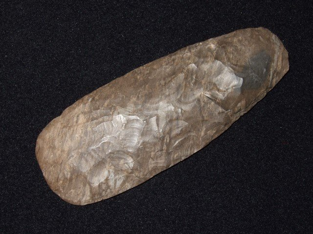 "Fine 5"" high-grade polished Dover flint adz"