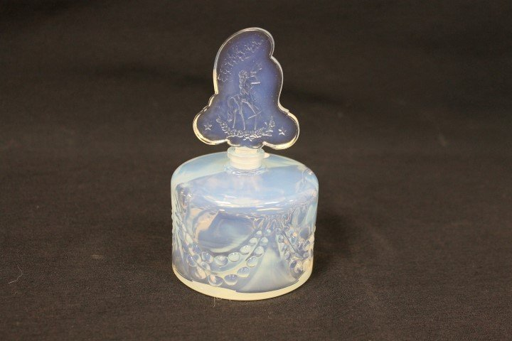 """French opalescent perfume bottle, 5 1/4"""""""