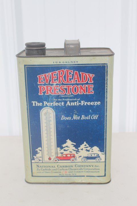 Everready Prestone Anti-Freeze 1-gallon can. 1927. No