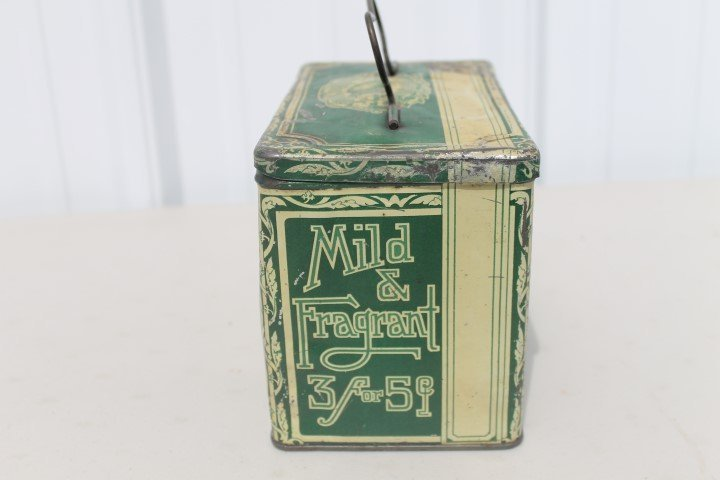 Green Turtle Cigars tin pail.  Gordon Cigar & Cheroot - 2