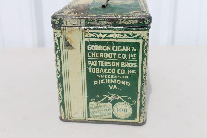 Green Turtle Cigars tin pail.  Gordon Cigar & Cheroot - 4