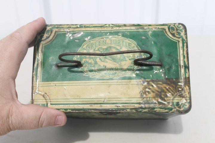 Green Turtle Cigars tin pail.  Gordon Cigar & Cheroot - 5