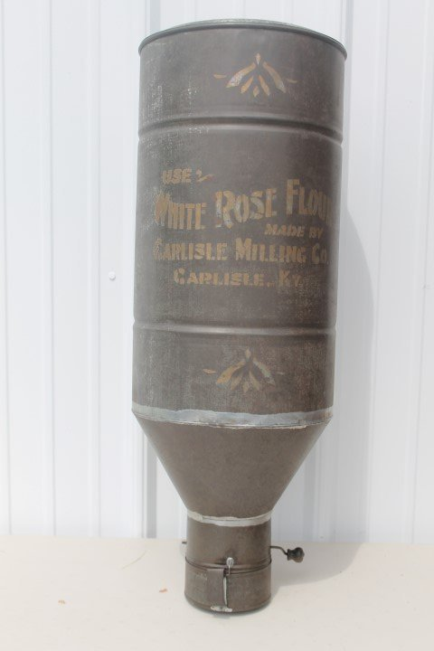 White Rose Flour store sifter with cup.  Carlisle
