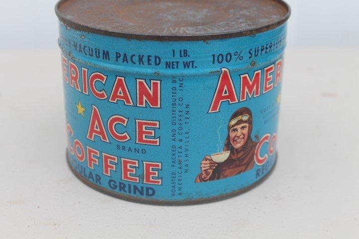 American Ace Coffee Regular Grind 1-pound key open tin. - 4