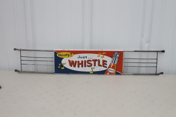 Whistle door push, Stout Sign Co. St. Louis, Mo.