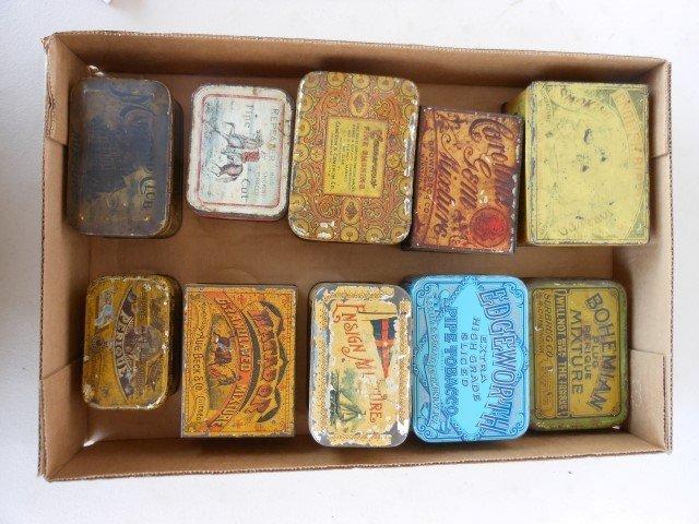 (10) Tobacco tins:  Repeater, Ensign Mixture, Matador,