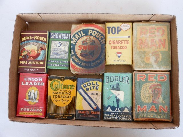 (10) unopened packs of tobacco:  Bowl of Roses,