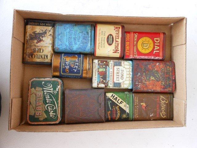 (10) Tobacco pocket tins:  Monte Cristo, Ky Club,