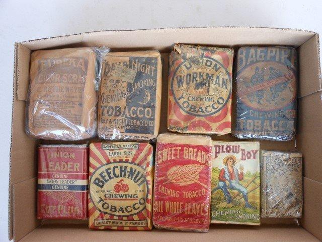 (9) unopened pack tobacco:  Ivanhoe, Plow Boy, Sweet