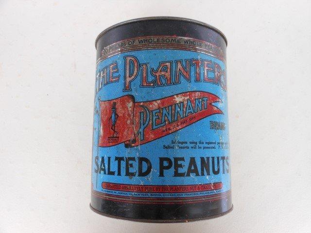 """9 3/4"""" Planters Peanut tin."""