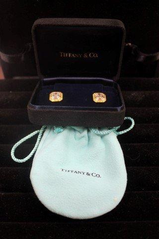 Tiffany 18k yellow gold and 2.52 carats diamond