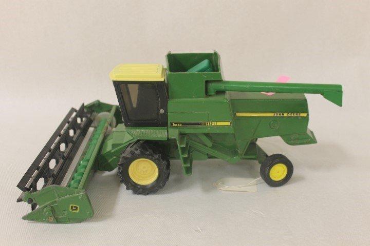 Ertl John Deere Turbo combine with grain head. Minor