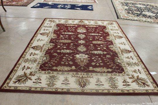 8' X 10' Wool Indo Agra rug