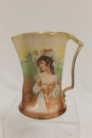 """Royal Bayreuth 5 7/8"""" pinched lip pitcher with a"""