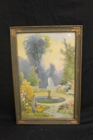 R. Atkinson Fox fountain print, Morris & Bendien, Inc.