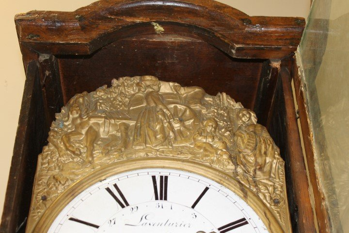 French Country cottage style grandfather clock with - 10