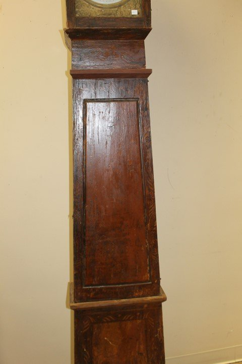 French Country cottage style grandfather clock with - 5