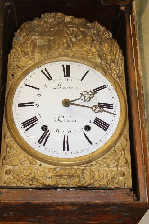 French Country cottage style grandfather clock with - 7