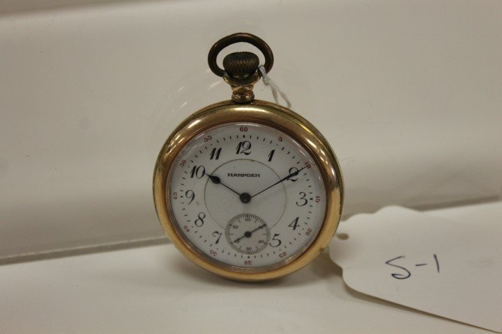 Hampden pocket watch, size 12, with Dueber Warranted 25