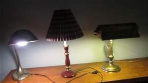 3 table lamps brass desk lamp adjustable