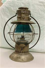 C. 1880 Presentation railroad lantern inscribed to