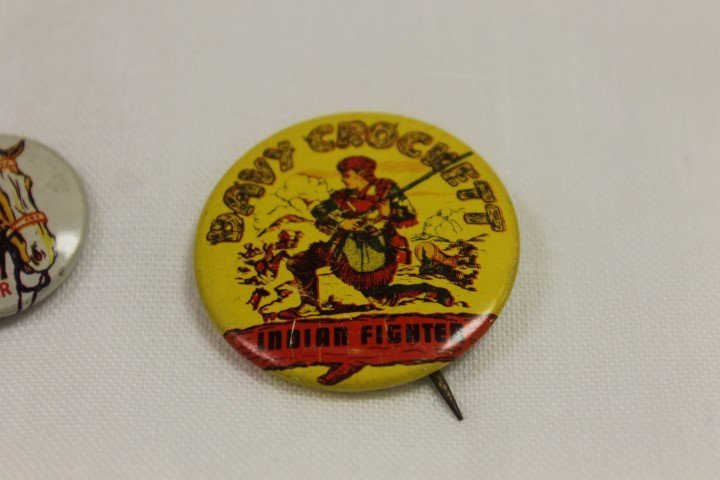 1953 Post Grape-Nut Flakes pin back with roy Rogers and - 3