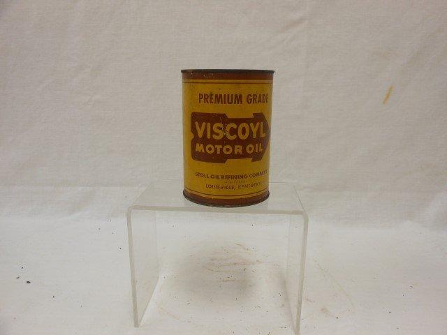 Viscoyl Motor Oil full Quart can, Stoll Oil Refining