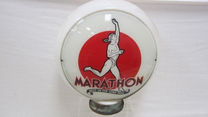 """Marathon3-piece gas globe with 13 1/2"""" Runner"""
